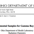 Ohio Department of Health Records 2013