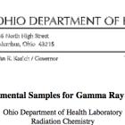Ohio Department of Health Records 2013