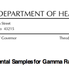 Ohio Department of Health Records 2014
