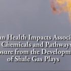 Human Health Impacts…. Development of Shale Plays